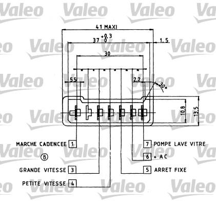 Commutateur de colonne de direction - VALEO - 251156