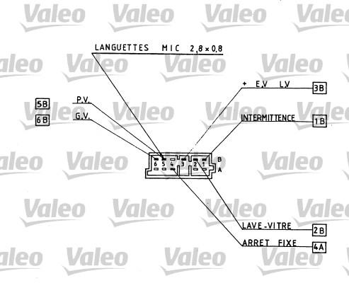 Commutateur de colonne de direction - VALEO - 251160