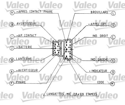 Commutateur de colonne de direction - VALEO - 251162