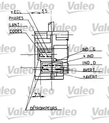 Commutateur de colonne de direction - VALEO - 251206