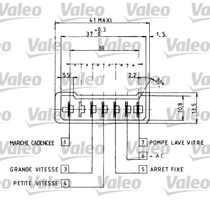Commutateur de colonne de direction - VALEO - 251209