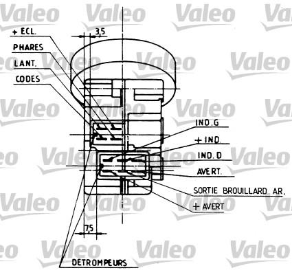 Commutateur de colonne de direction - VALEO - 251210
