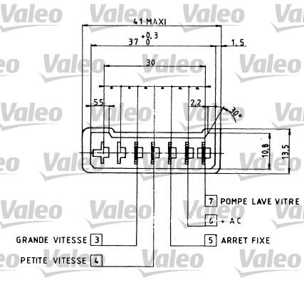 Commutateur de colonne de direction - VALEO - 251213