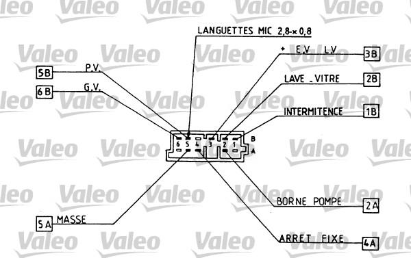 Commutateur de colonne de direction - VALEO - 251261