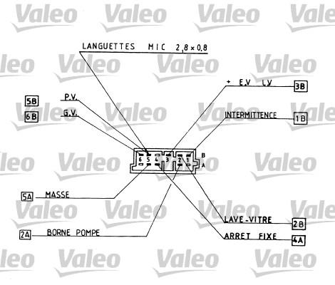 Commutateur de colonne de direction - VALEO - 251269