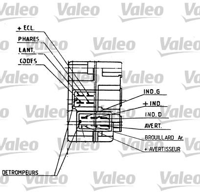 Commutateur de colonne de direction - VALEO - 251274