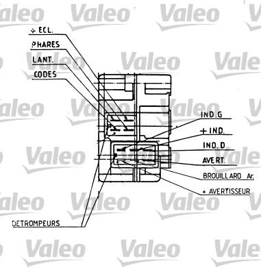Commutateur de colonne de direction - VALEO - 251275