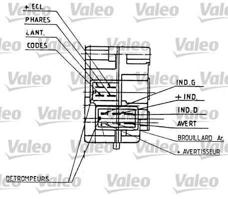 Commutateur de colonne de direction - VALEO - 251276