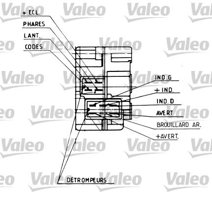 Commutateur de colonne de direction - VALEO - 251282