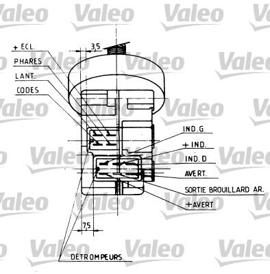 Commutateur de colonne de direction - VALEO - 251283