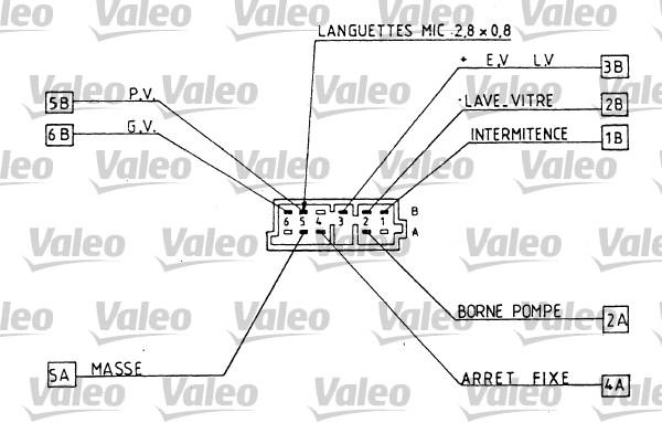 Commutateur de colonne de direction - VALEO - 251286
