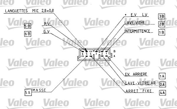 Commutateur de colonne de direction - VALEO - 251287