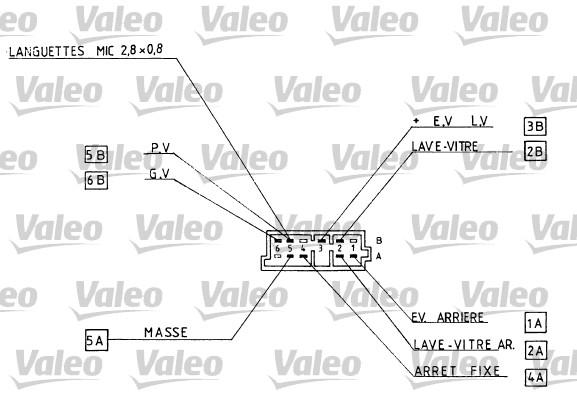 Commutateur de colonne de direction - VALEO - 251290