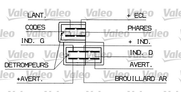 Commutateur de colonne de direction - VALEO - 251298
