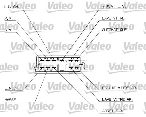 Commutateur de colonne de direction - VALEO - 251306