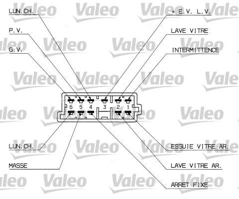 Commutateur de colonne de direction - VALEO - 251307