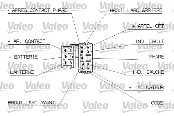 Commutateur de colonne de direction - VALEO - 251312