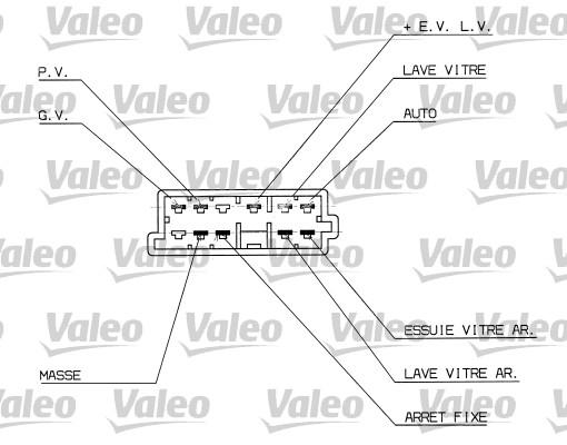 Commutateur de colonne de direction - VALEO - 251314