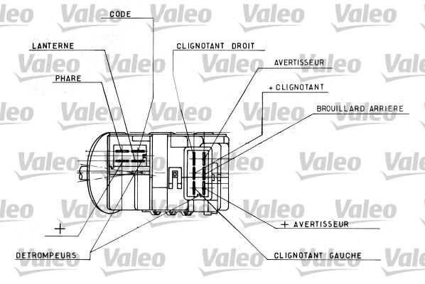 Commutateur de colonne de direction - VALEO - 251328