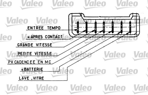 Commutateur de colonne de direction - VALEO - 251334