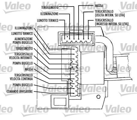 Commutateur de colonne de direction - VALEO - 251389