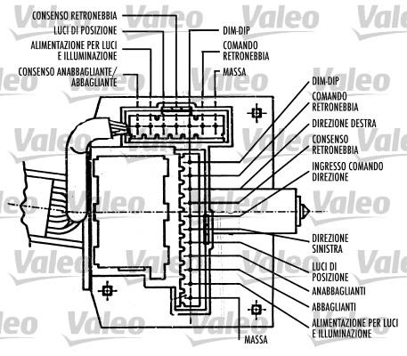 Commutateur de colonne de direction - VALEO - 251417