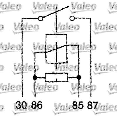 Relais, courant de travail - VALEO - 643827