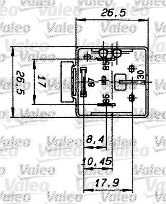 Relais, courant de travail - VALEO - 643828