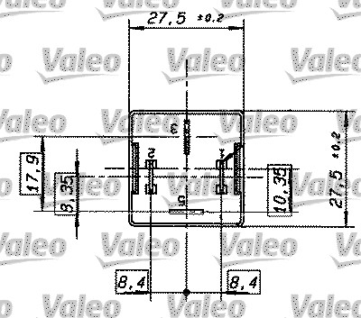 Relais, courant de travail - VALEO - 643838