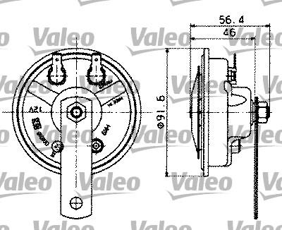 Avertisseur sonore - VALEO - 479165