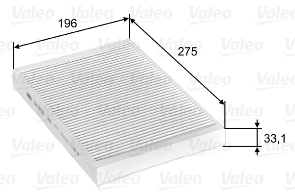 Filtre, air de l'habitacle - VALEO - 715597