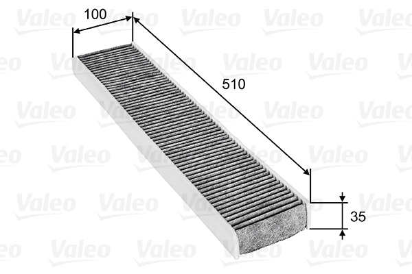 Filtre, air de l'habitacle - VALEO - 698745