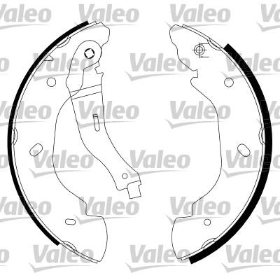 Jeu de mâchoires de frein - VALEO - 564023