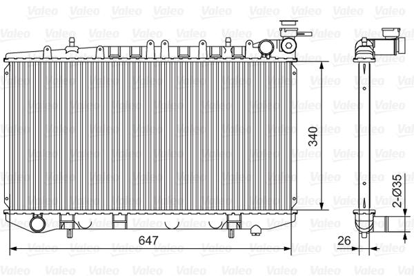 Radiateur, refroidissement du moteur - VALEO - 731090