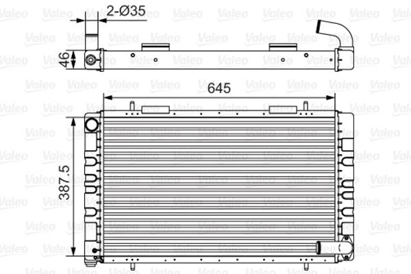 Radiateur, refroidissement du moteur - VALEO - 731235