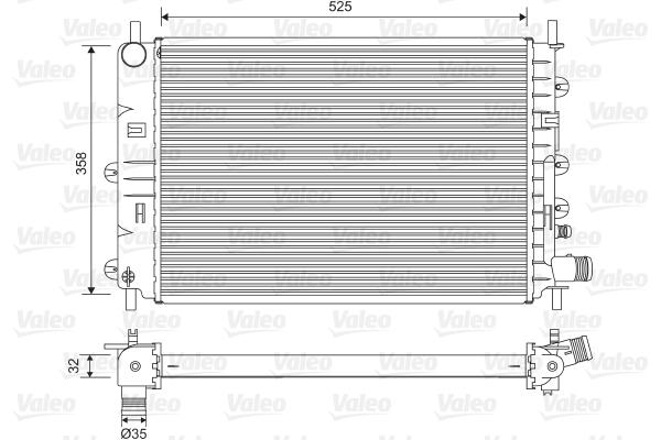 Radiateur, refroidissement du moteur - VALEO - 731300