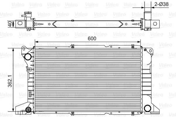 Radiateur, refroidissement du moteur - VALEO - 731782