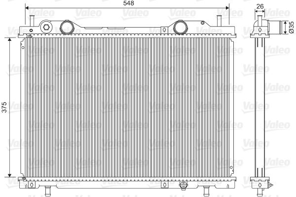 Radiateur, refroidissement du moteur - VALEO - 731972