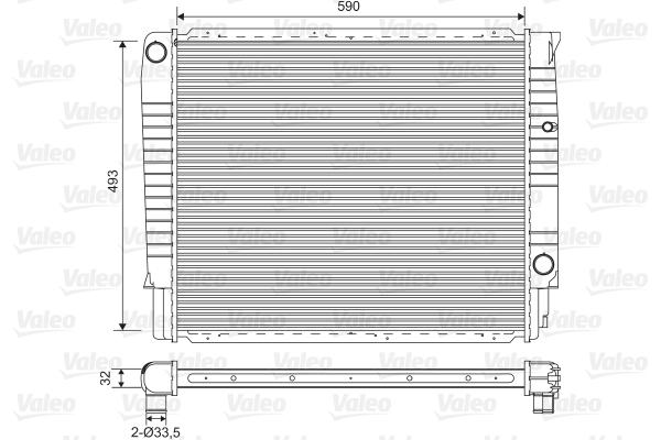 Radiateur, refroidissement du moteur - VALEO - 732368
