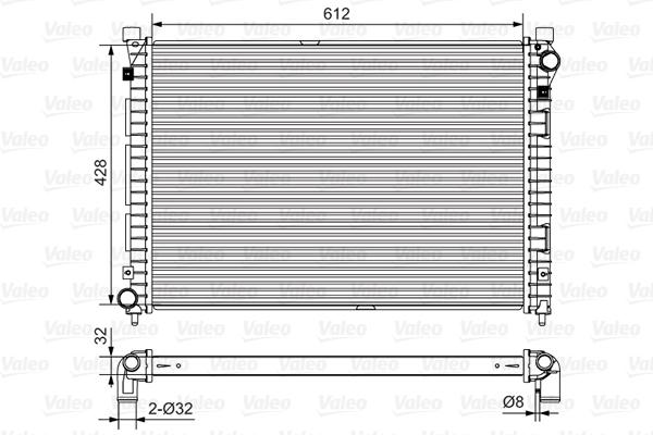 Radiateur, refroidissement du moteur - VALEO - 732399