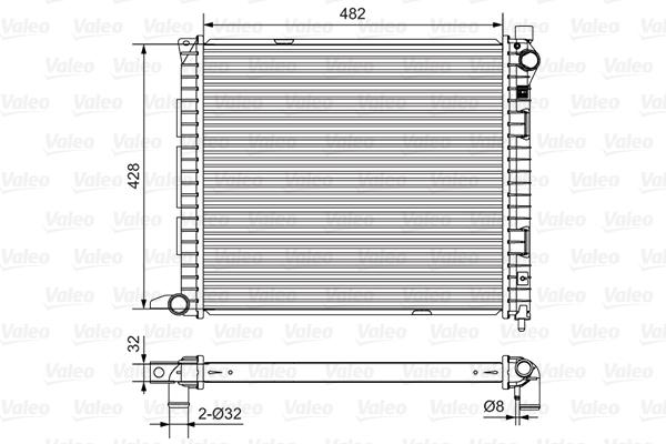 Radiateur, refroidissement du moteur - VALEO - 732400