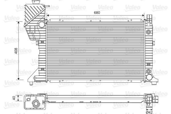Radiateur, refroidissement du moteur - VALEO - 732472