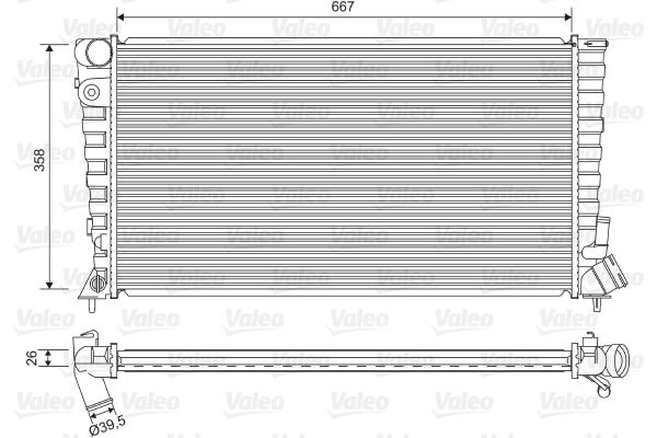 Radiateur, refroidissement du moteur - VALEO - 732518