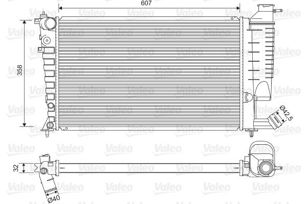 Radiateur, refroidissement du moteur - VALEO - 732520