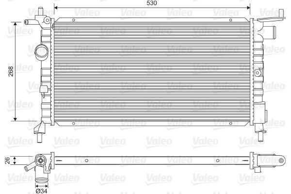 Radiateur, refroidissement du moteur - VALEO - 732606