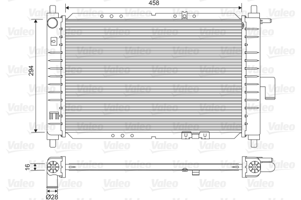 Radiateur, refroidissement du moteur - VALEO - 734251