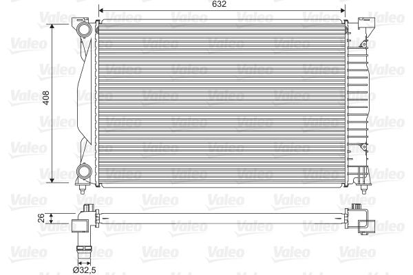 Radiateur, refroidissement du moteur - VALEO - 734269