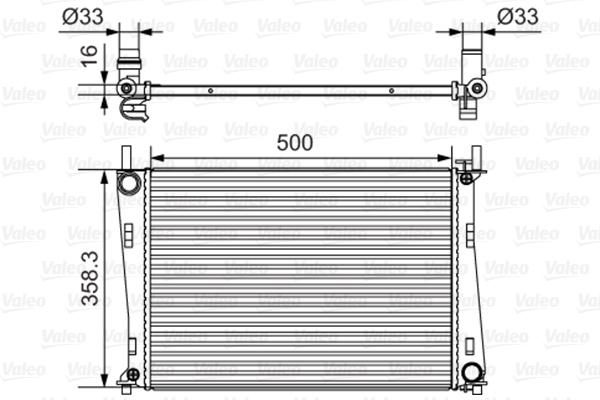 Radiateur, refroidissement du moteur - VALEO - 734273