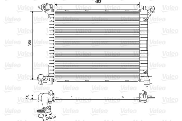 Radiateur, refroidissement du moteur - VALEO - 734329