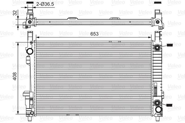 Radiateur, refroidissement du moteur - VALEO - 734378